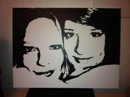 ** Ihr PORTRAIT / Foto auf Leinwand ** 60x80 cm HANDGEMALT