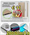 POWER BANK 20000mAh Dual USB LED Flashlight € 11 versandkostenfrei