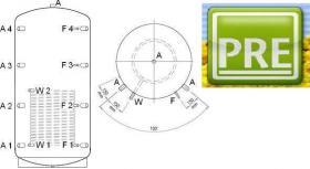 PRE Pufferspeicher 5000 Liter ein Wärmetauscher, mit Hartschaum Isolierung(abnehmbar). Für Heizung, Heizkessel, Holzvergaser, Kamin, Ofen, Solarthermie, BHKW. prehalle