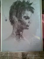 Pablo Picasso, Zeichnung ''Mädchenkopf'' zu verkaufen.