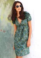 Paisleykleid, blau-grün | 34 - 36 - 38 - 40 - 42 - 44