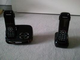 Foto 2 Panasonic Telefon mit Anrufbeantworter und 3 Mobilteilen