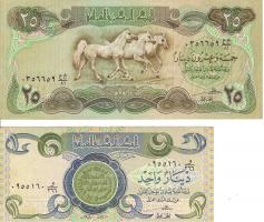 Foto 2 Papiergeld Banknoten (Irak)