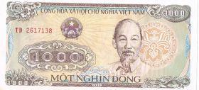 Papiergeld Vietnam 1000 Mot Nghin Dong ! !