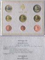 Foto 2 '' Papst Benedikt XVI. '' 3 Amtliche Original Vatikan Euro Kursmünzensätze 2006 , 2007 , 2008 in Stempelglanz .