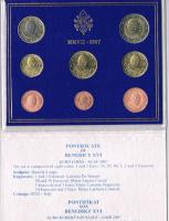 Foto 3 '' Papst Benedikt XVI. '' 3 Amtliche Original Vatikan Euro Kursmünzensätze 2006 , 2007 , 2008 in Stempelglanz .