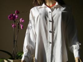 Paris Weiße Bluse in Grösse 36