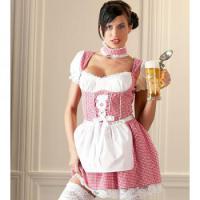 Foto 2 Party Kostüm - Dirndl Set weiß/rot - versch. Größen verfügbar - Neu