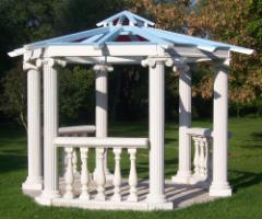 pavillon aus sandstein gazebo mit glasdach in. Black Bedroom Furniture Sets. Home Design Ideas