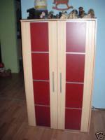 Pc Schrank buche rot mit eingbauten licht