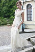 Foto 2 Perlenbesetztes Empire Taille bodenlanges Brautkleid - Mode-top