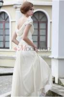 Foto 4 Perlenbesetztes Empire Taille bodenlanges Brautkleid - Mode-top