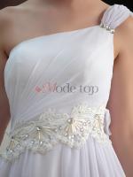 Foto 4 Perlenbesetztes normale Taille Mitte Abschlusskleid - Mode-top.de