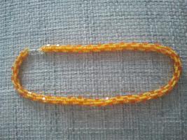 Perlenkette gelb-orange