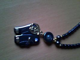 Perlenkette schwarz neu und ungetragen