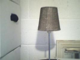 Foto 2 Perlenlamp - silber - mit Birne Preis: 9 EUR