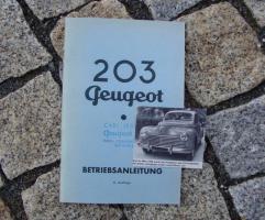 Peugeot 203 Betriebsanleitung (1954)