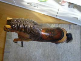 Foto 3 Pferd Antik aus Holz