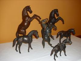 Foto 2 Pferde mit Leder bezogen - SAMMLUNG oder einzeln !