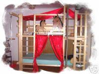 Foto 2 '' Pferde Träume '' Hochbett Kinderbett Etagenbett Bett NEU