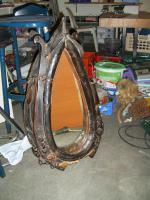 Pferdekoppel mit Spiegel