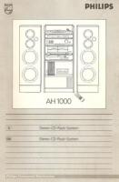 Philips-Stereo-CD-Rack-System AH 1000