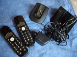 Phillips CD140 Duo, schwarz,2 Handgeräte, kaumbenutzt, voll funkt.