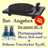 Plattenspieler mmf-2.2 und R�hren Vorverst�rker P�tter R50SL im Set- Angebot