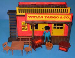 Playmobil western gebäude wells fargo 3431 sehr gut