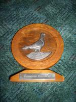 Pokal für Taubenzucht, alten Pokal, Pokal