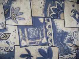 Foto 2 Polsterbett in blau-beige