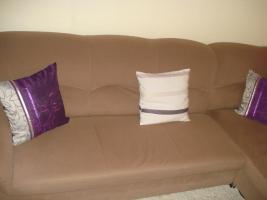Polsterecke + Sessel