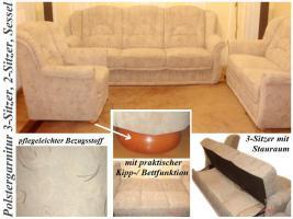 Polstergarnitur 3-Sitzer, 2-Sitzer & Sessel