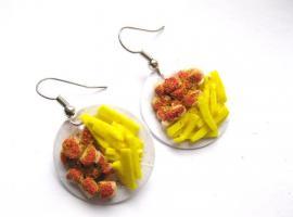 Pommes Currywurst Ohrringe