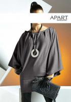 Poncho-Pullover grau von APART Gr. 40/42 - OVP - NEU
