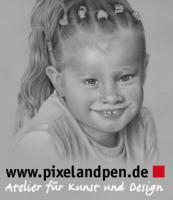 Portraitzeichnung nach Fotovorlage