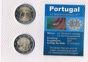 Portugal 2 Euro Gedenkmünzen '' 2007 ''  ! !