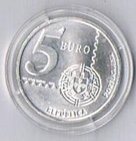 Portugal 5 Euro Silber 2004 '' 150 Jahre portugiesische Briefmarken ! !