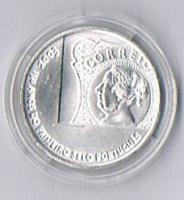 Foto 2 Portugal 5 Euro Silber 2004 '' 150 Jahre portugiesische Briefmarken ! !