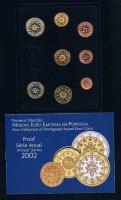 Portugal Offizieller Amtlicher Euro Kursmünzensatz 2002 Polierte Platte Bankfrisch Prägefrisch .