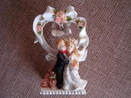 Porzellan-Figur Hochzeitspaar Kerzenständer