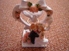 Foto 2 Porzellan-Figur Hochzeitspaar Kerzenständer