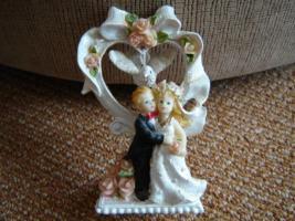 Foto 3 Porzellan-Figur Hochzeitspaar Kerzenständer