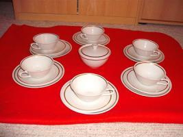 Porzellan Teeservice für 6 Personen ( Weimar)