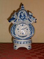 Porzellan Uhr Delfterart