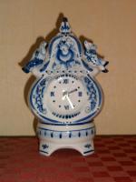 Foto 2 Porzellan Uhr Delfterart