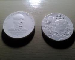 Foto 6 Porzellanmünzen von Meissen