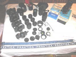Praktica Spiegelreflex Fotoausrüstung überkomplett