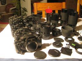 Foto 4 Praktica Spiegelreflex Fotoausrüstung überkomplett