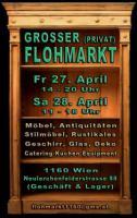 Privatflohmarkt Wien 1160 am 27.+28.April, Antiquitäten, Stilmöbel, Schränke, Vitrinen, Tische, Ledersofas, Porzellan u.vm